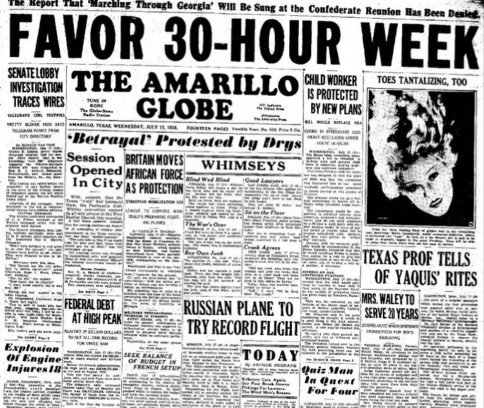 The Amarillo Globe-Times July 17, 1935