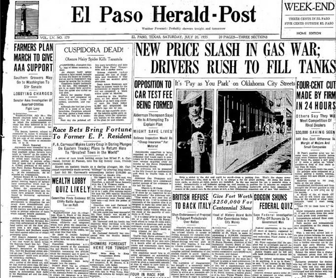 El Paso Herald Post July 20, 1935