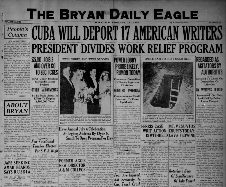 The Bryan Daily Eagle July 3, 1935