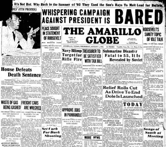 The Amarillo Globe Times August 1, 1935