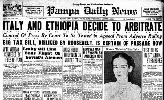 Pampa Daily News Pampa, TX Aug 4, 1935