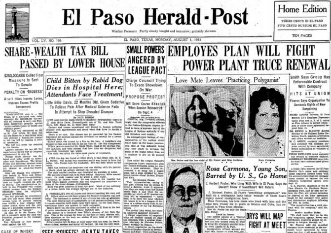 El Paso Herald Post Aug 5, 1935
