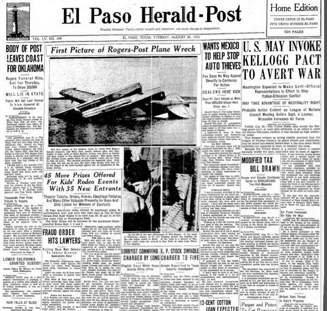 The El Paso Herald Aug 20, 1935