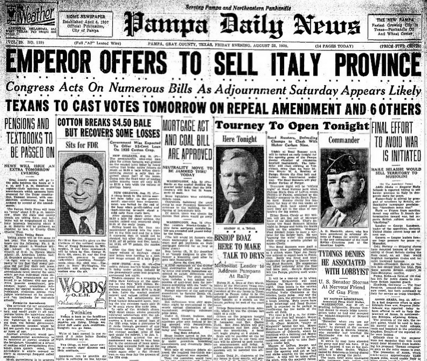 Pampa Daily News Aug 23, 1935