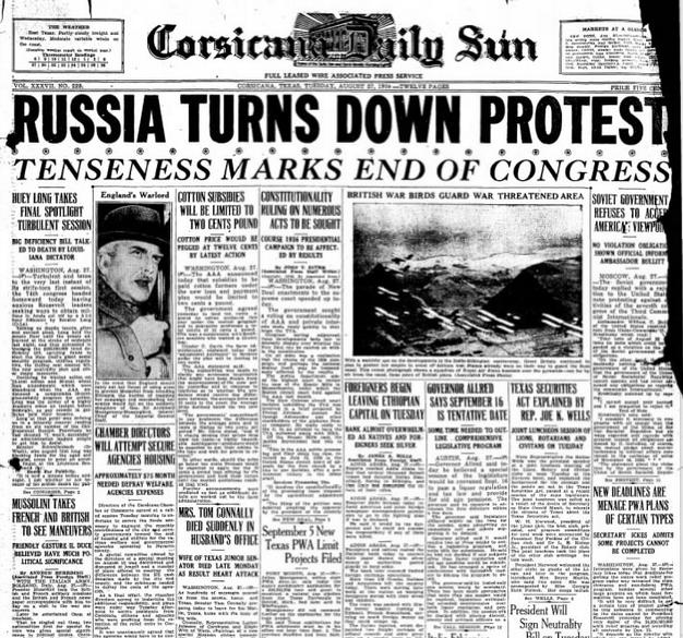 Corsicana Daily Sun Aug 27, 1935