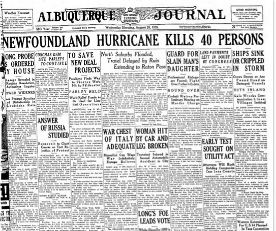 Albuquerque Journal Aug 28, 1935
