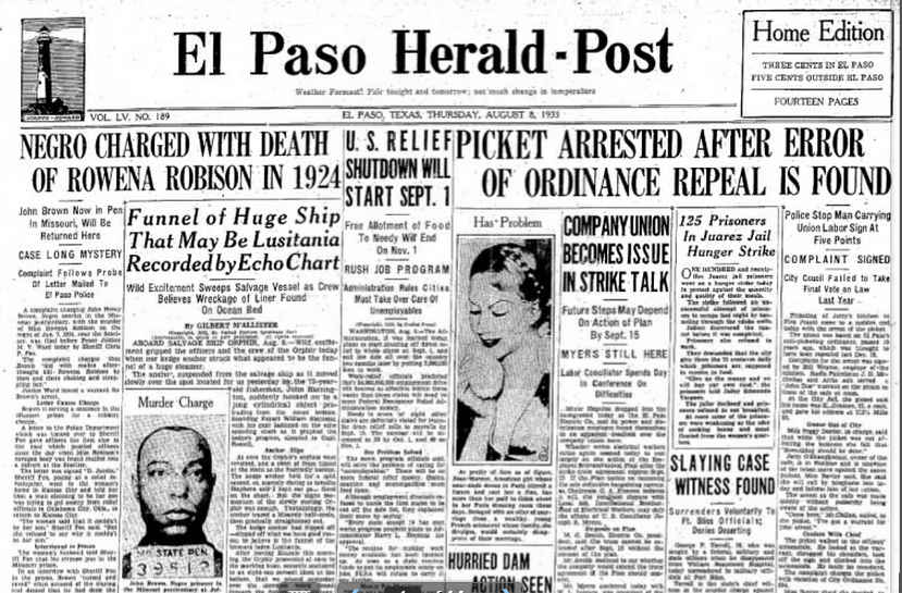 El Paso Herald Post Aug, 8, 1935