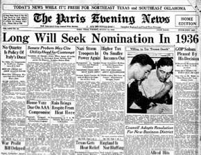 The Paris Evening News Aug. 13, 1935