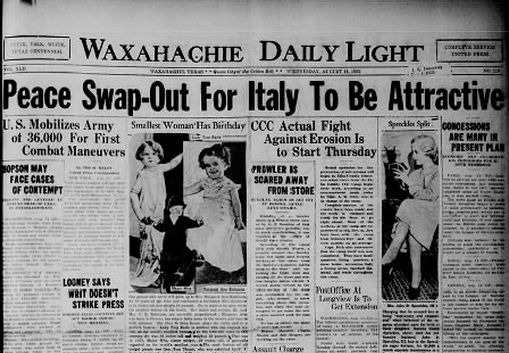 Waxahachie Daily Light Aug 14, 1935