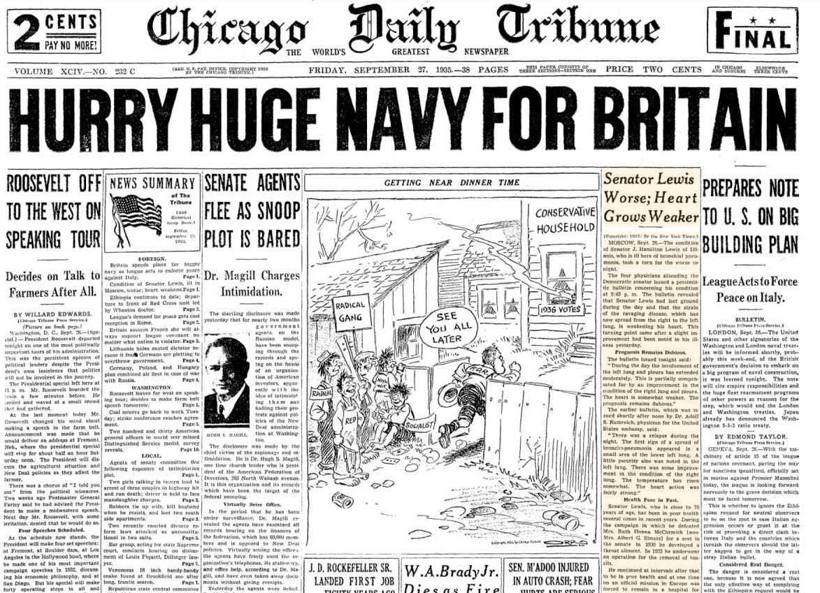 Chicago Daily Tribune Sept 27. 1935