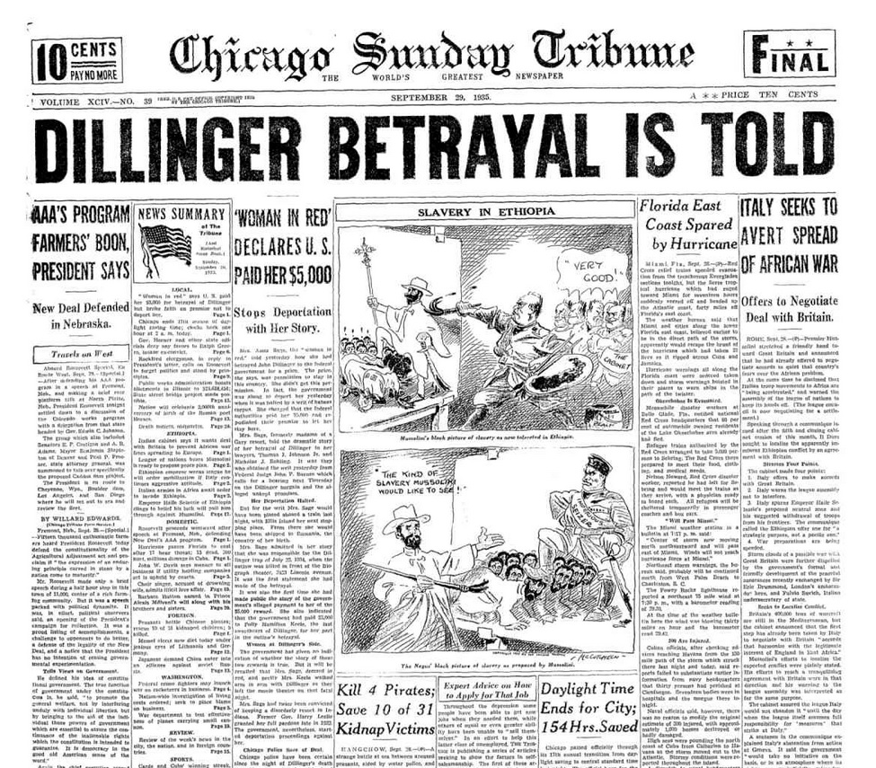 Chicago Sunday Tribune Sept 29,1935