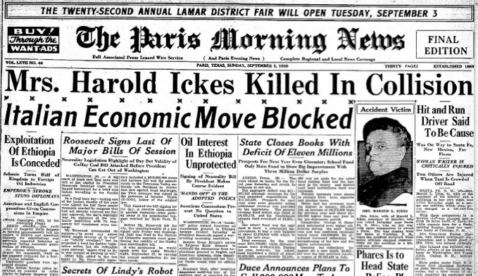The Paris News Sept 1, 1935