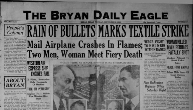 The Bryan Daily Eagle Sept 2, 1935