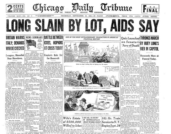 Chicago Daily Tribune Sept, 12, 1935