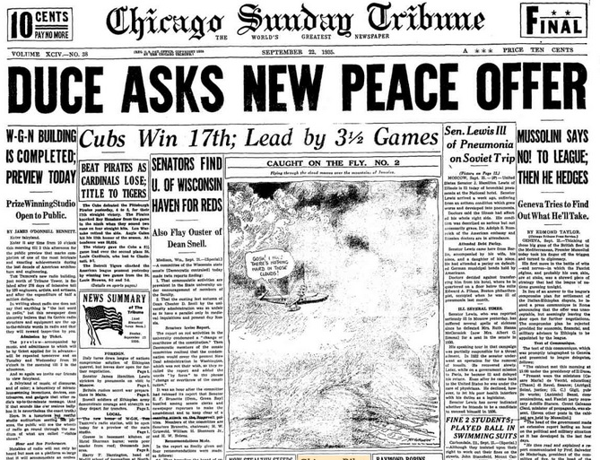 Chicago Daily Tribune Sept. 22, 1935