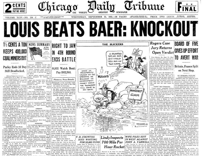 Chicago Daily Tribune Sept 25, 1935