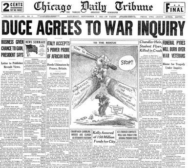 The Chicago Tribune Sept 7, 1935