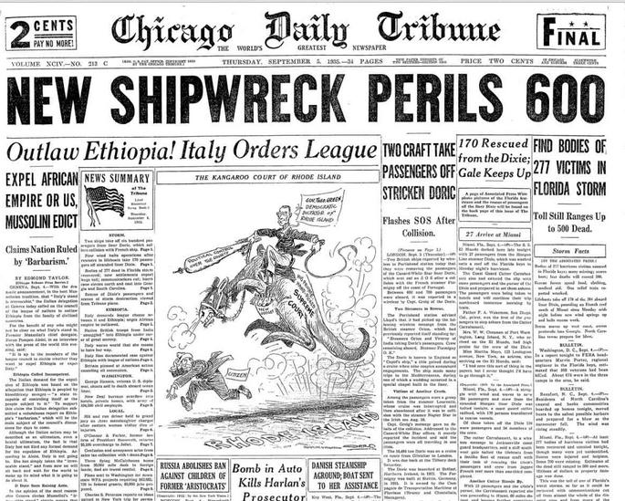 The Chicago Tribune Sept 5, 1935