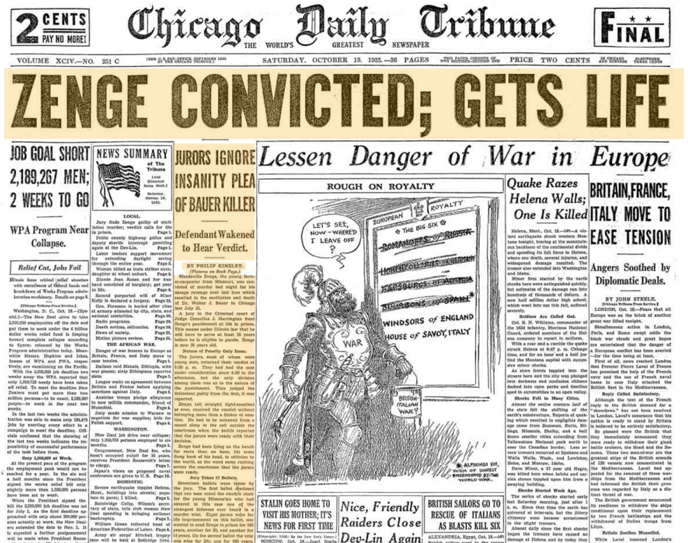 Chicago Daily Tribune Oct 19, 1935