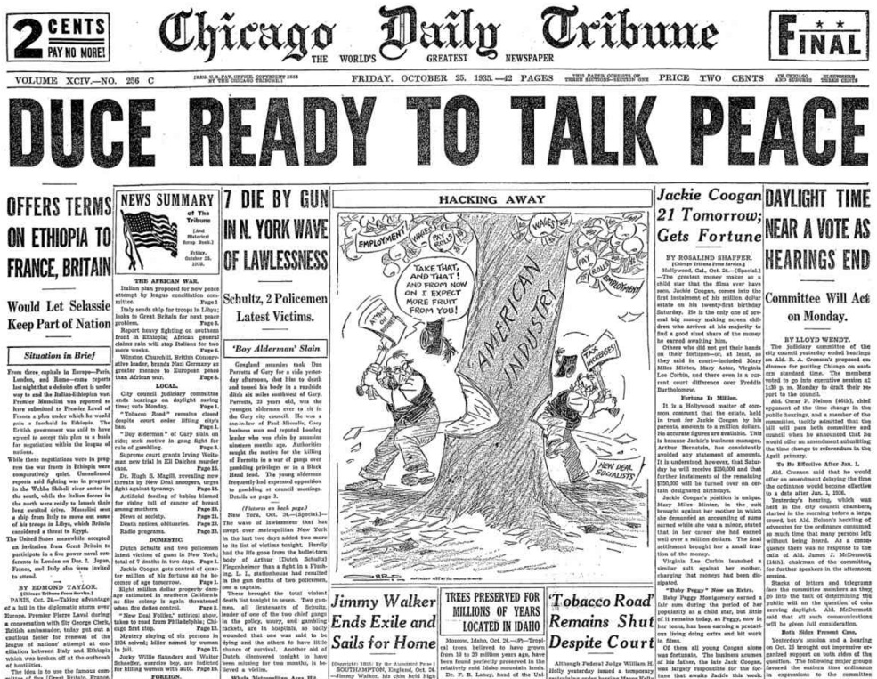 Chicago Daily Tribune Oct 25, 1935