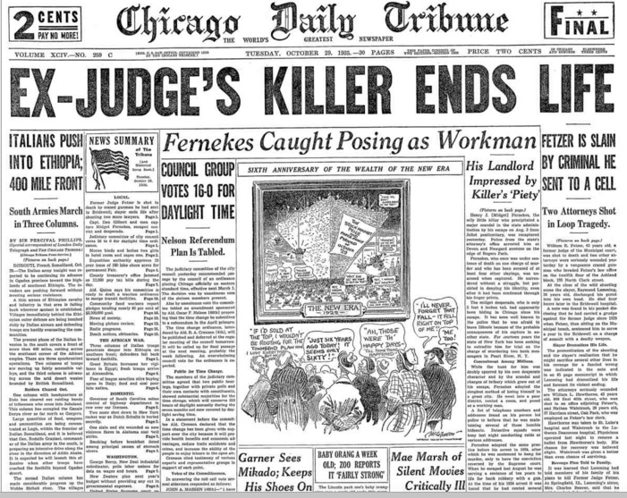 Chicago Daily Tribune Oct 29, 1935