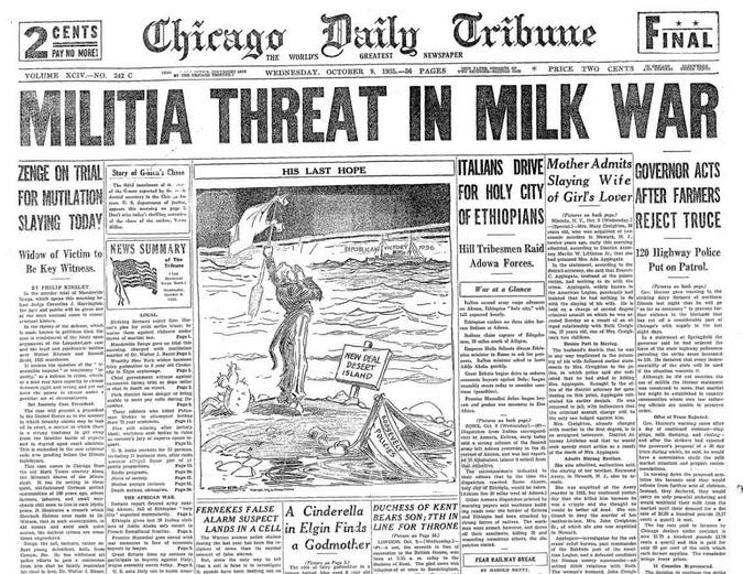 Chicago Daily Tribune Oct 9, 1935