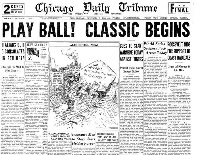 Chicago Daily Tribune Oct 2, 1935