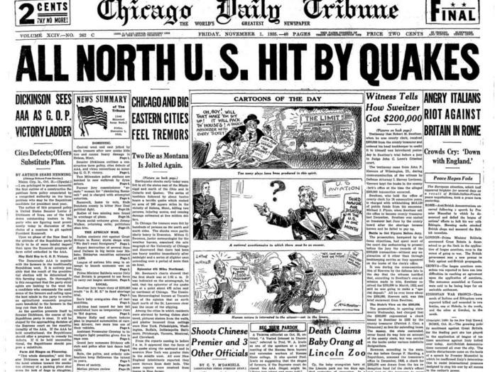 Chicago Daily Tribune Nov 1, 1935