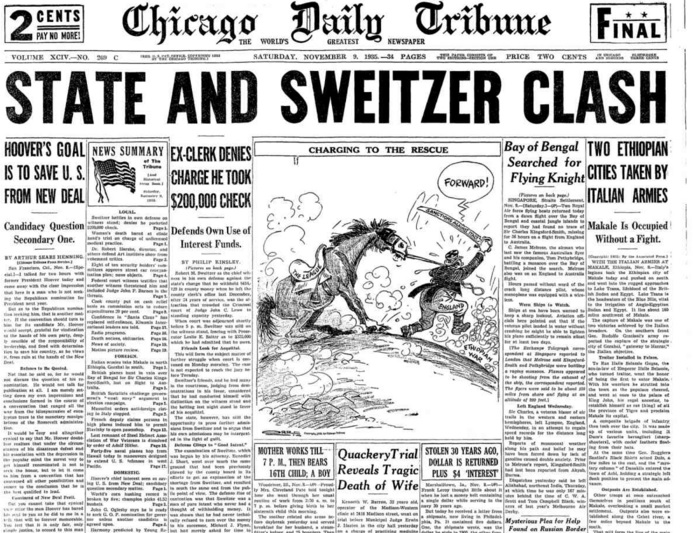 Chicago Daily Tribune Nov 9, 1935