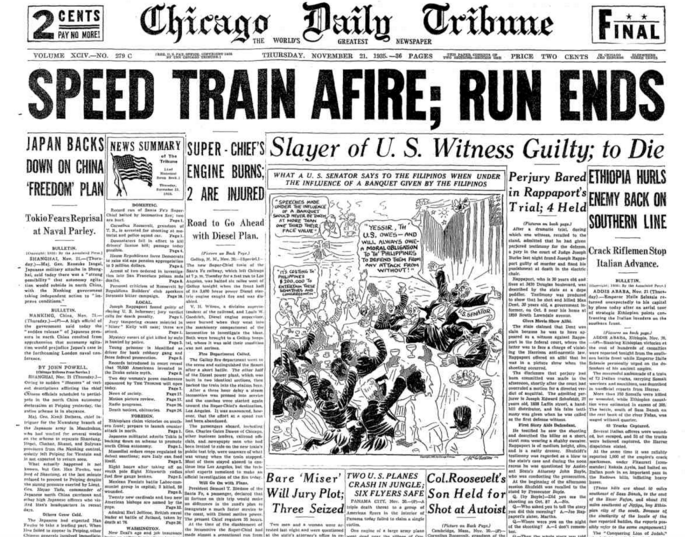 Chicago Daily Tribune Nov 21, 1935