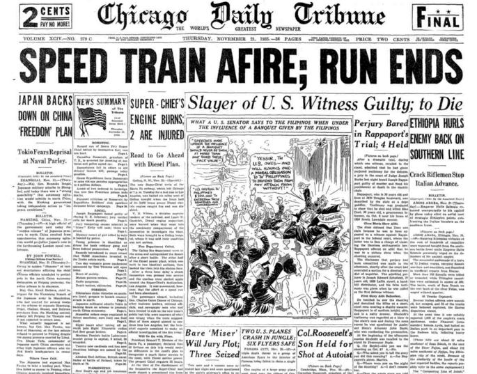 Chicago Daily Tribune Nov 21, 1935