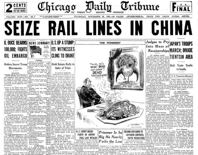 Chicago Daily Tribune Nov 28, 1935
