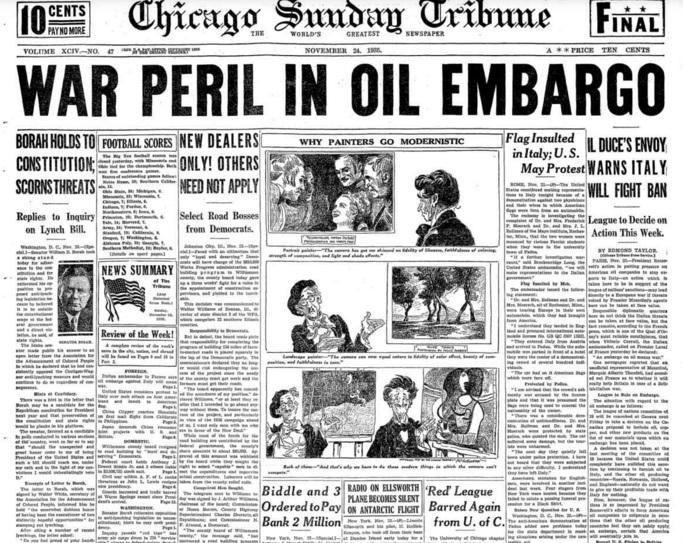 Chicago Sunday Tribune Noember 24, 1935