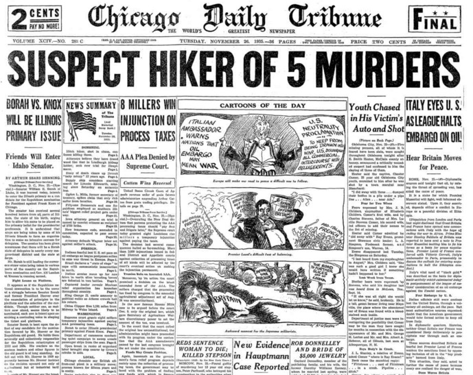 Chicago Daily Tribune Nov 26, 1935
