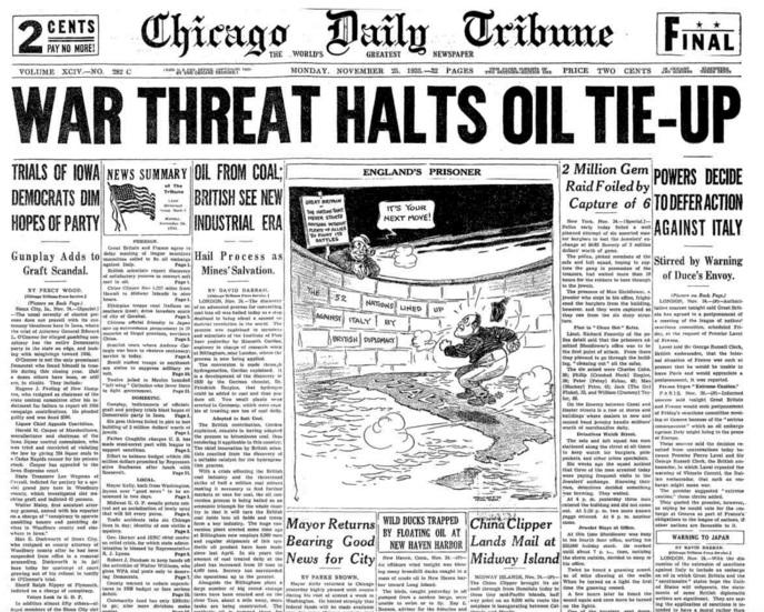 Chicago Daily Tribune Nov 25, 1935