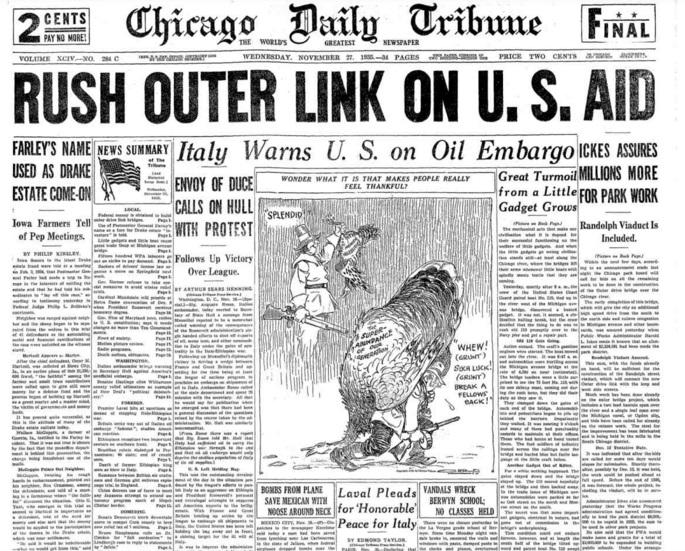 Chicago Daily Tribune Nov 27, 1935