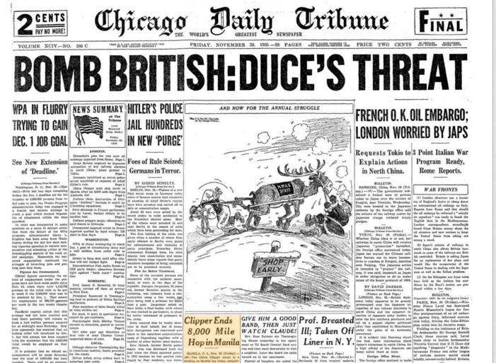 Chicago Daily Tribune Nov 29, 1935