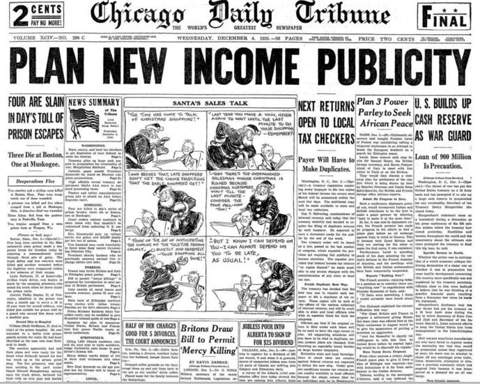 Chicago Daily Tribune Dec 4, 1935