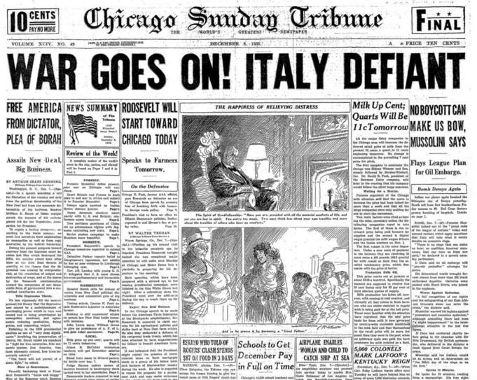 Chicago Sunday Tribune Dec 8, 1935
