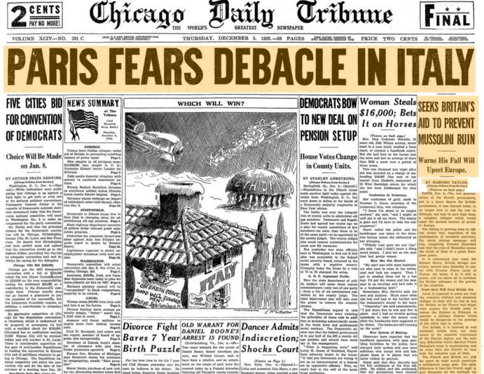 Chicago Daily Tribune Dec 5, 1935