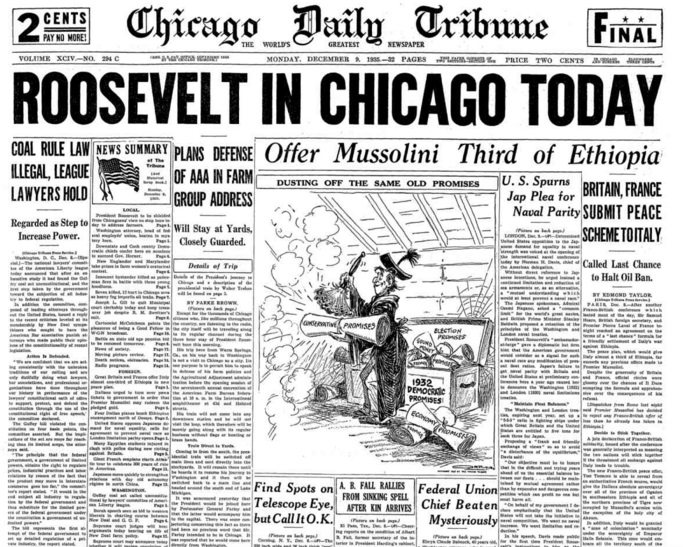 Chicago Daily Tribune December 9, 1935