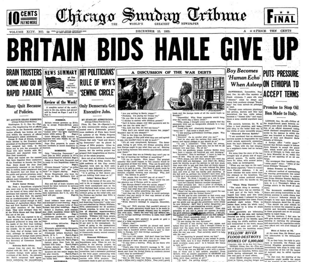Chicago Sunday Tribune Dec 15, 1935