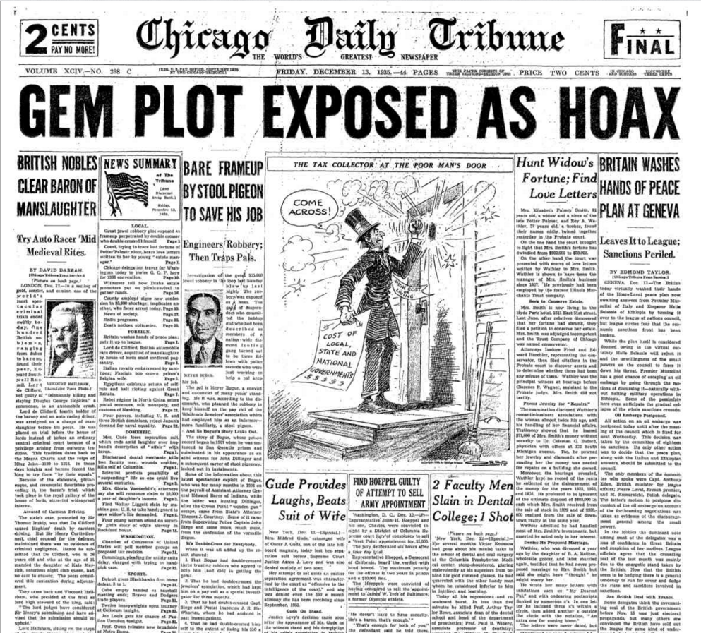 Chicago Daily Tribune Dec 13, 1935