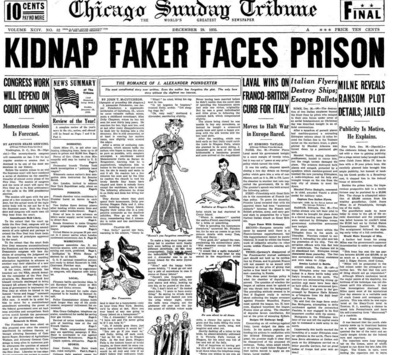 Chicago Sunday Tribune Dec 29, 1935