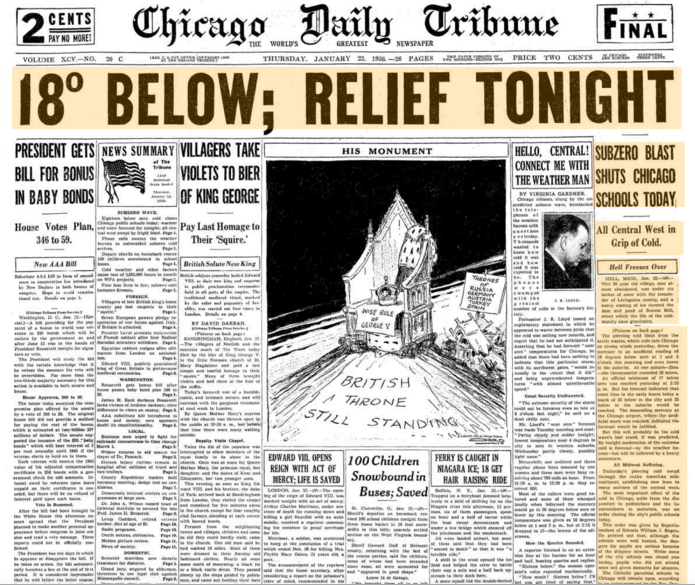 Chicago Daily Tribune Jan 23, 1936
