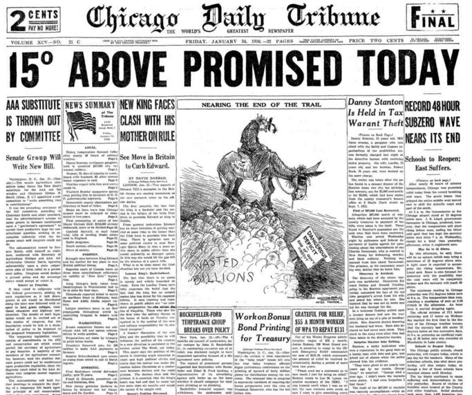 Chicago Daily Tribune Jan 24, 1936