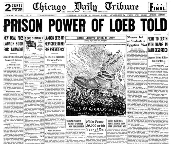 The Chicago Daily Tribune Jan 30, 1936