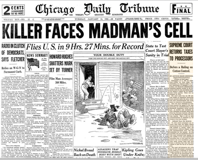 Chicago Daily Tribune Jan 14, 1936