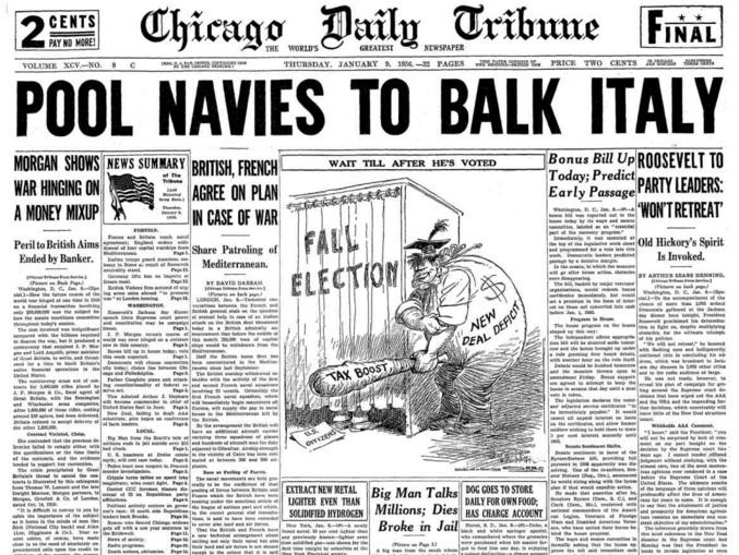 Chicago Daily Tribune Jan 9, 1936