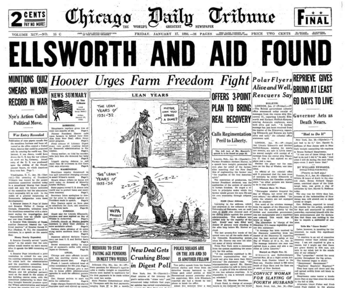 Chicago Daily Tribune Jan 17, 1936